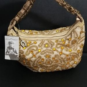 Betsey Johnson VICTORIANA GOLD HOBO BAG